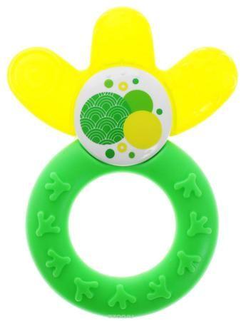 """МАМ Прорезыватель охлаждающий Cooler цвет зеленый желтый  — 753р.  Прорезыватель """"Cooler cooling teether"""" - многофункциональная игрушка для малыша. Прорезыватель изготовлен в форме кольца с тремя лепестками. Поверхность лепестков, заполненная водой, охлаждает десны, снимая болевые ощущения. Рифленая поверхность, массируя десны, стимулирует рост зубов. Кроме того, игрушка с текстурированной поверхностью предназначена для тренировки мелкой моторики пальчиков ребенка. Прорезыватель не содержит…"""