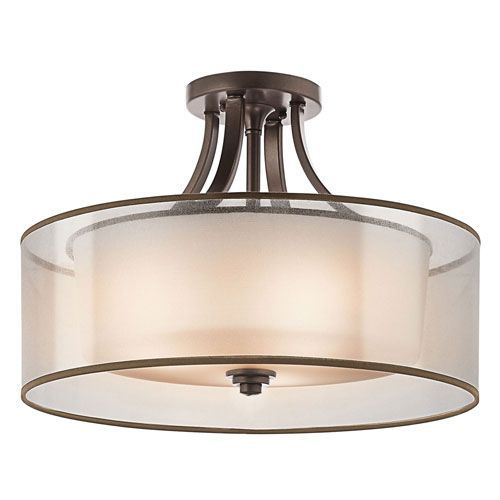 Lacey Antique Pewter Four-Light Semi-Flush Mount