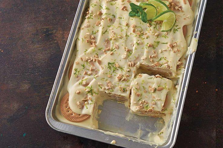 Cómo hacer Carlota de limón -Receta de postres fríos con galletas María