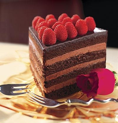 chocolate fudge cake chocolate mousse layers and ganache top