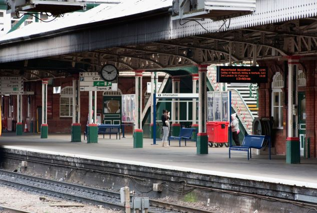 (AL) The UK's Worst Train Stations: 1.Nottingham Station-This Edwardian station was built in the early 1900s and is operated by East Midlands Trains. 59 per cent of people surveyed said they were satisfied with the station - a low score which ranked it bottom for both cleanliness and facilities in the Passenger Focus National Passenger survey.