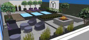 Gartenplanung Für Eine Moderne Gartengestaltung Mit Pool, Gartensauna /  Gartenhaus, Reflectionpool, Design