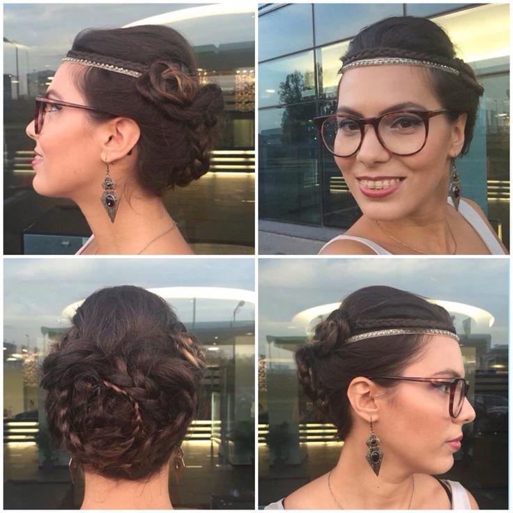 Vintage braided hair #braided #hairaccessories