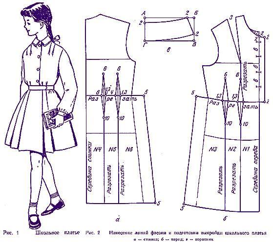 Выкройка школьной формы платье
