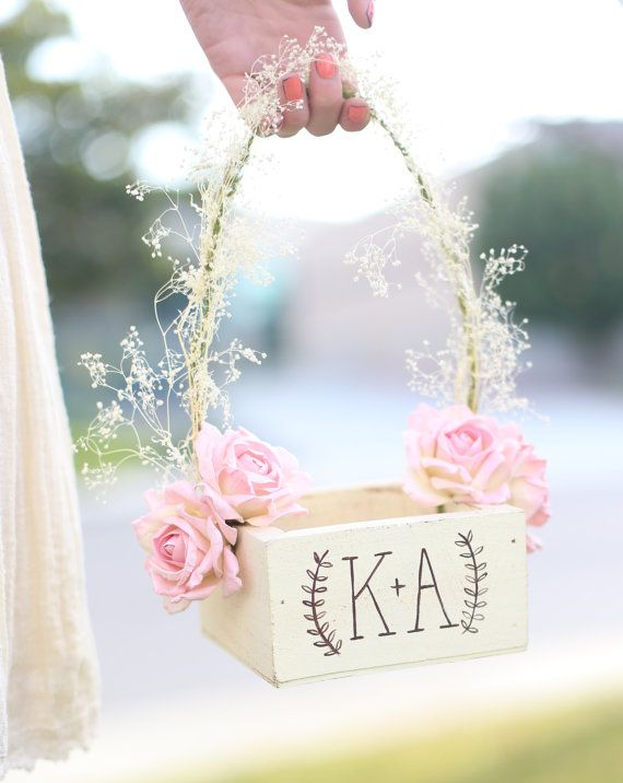 Personalized Rustic Chic Flower Girl Basket Paper by braggingbags