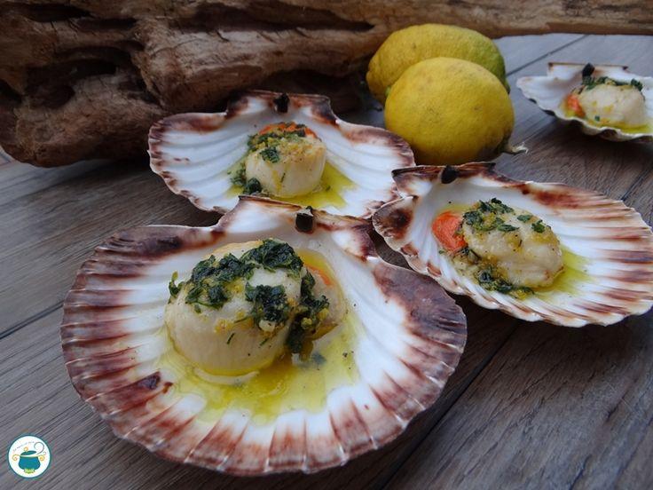 Capesante con salsa al limone / ricetta pesce