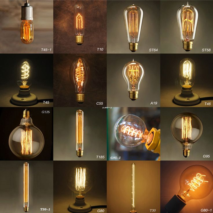 5pcs personalidade criativa / muito retro e27 lâmpada de iluminação decorativas Edison Lâmpada de carbono lâmpadas de filamento incandescent...