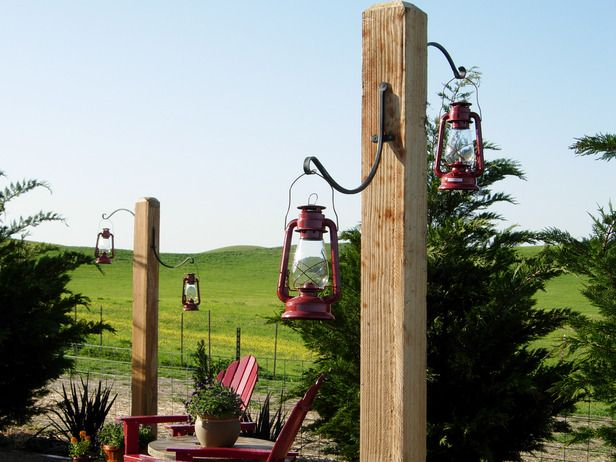 Rustic country lanterns on DIY Network