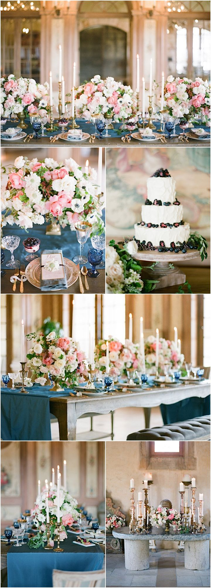 Featured Photographer: Bryan Miller; chic wedding reception details