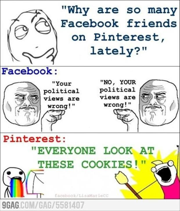 Right!!! After Pintrest and I found each other I HATE Facebook!!! I would rather learn to do awesome shit than read about people I don't like anyway. ♥keeppinnin