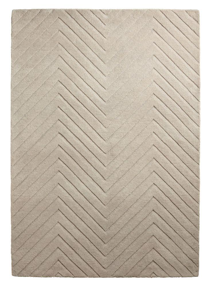 Colours Aima Beige Carved Herringbone Rug (L)1.7m (W)1.2m | Departments | DIY at B&Q