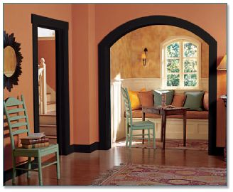 23 best images about decorating with dark wood trim on for Dark interior paint colors