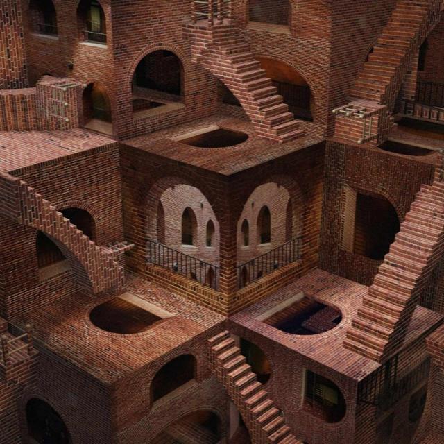 Escher-like Stairways...LOVE THIS...