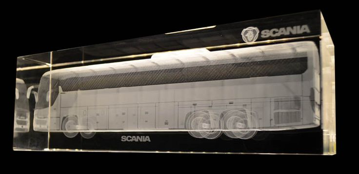A nice and easy way to get an overview of a big object for ex. a bus, is in 3D made from cad files. Here a Scania Bus