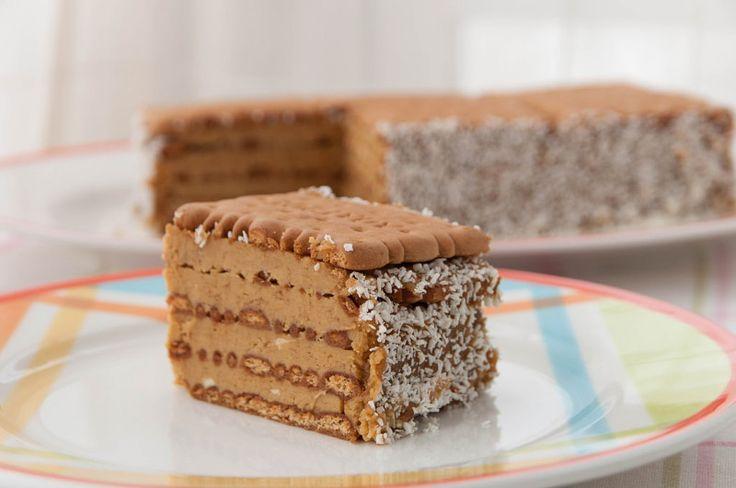 Кофейный торт из печенья