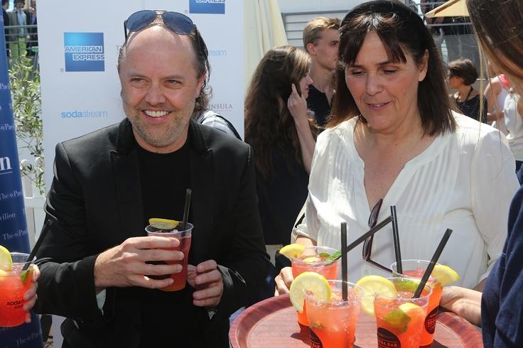 Enjoying refreshing sodas at AMPAV at #Cannes2013!