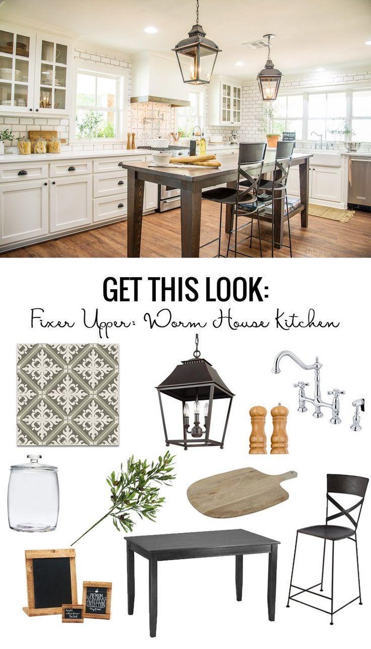 Get This Look: Fixer Upper Worm House Kitchen #kitchenideas ...