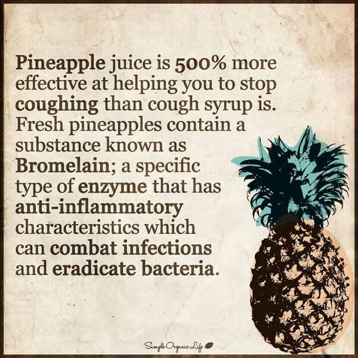 The pinapple-For a sore throat.