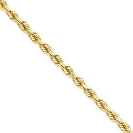14k Gold 5.5mm D/C Rope with Lobster Clasp Chain 9 Inches PriceRock. $1711.88