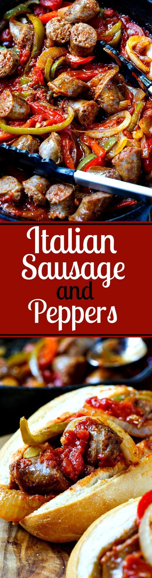 Italian Sausage and Peppers makes an easy weeknight meal!                                                                                                                                                                                 More