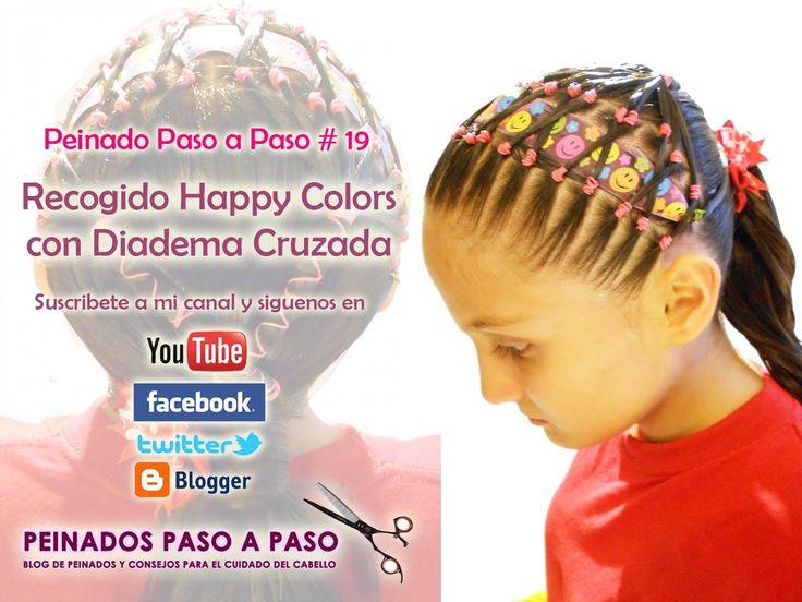Peinados fáciles para niña | Diadema Happy Colors