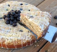 Moist Blueberry Muffin Cake. A super delicious cake that is perfect for a weekend morning breakfast! Loaded with blueberries, and covered in...