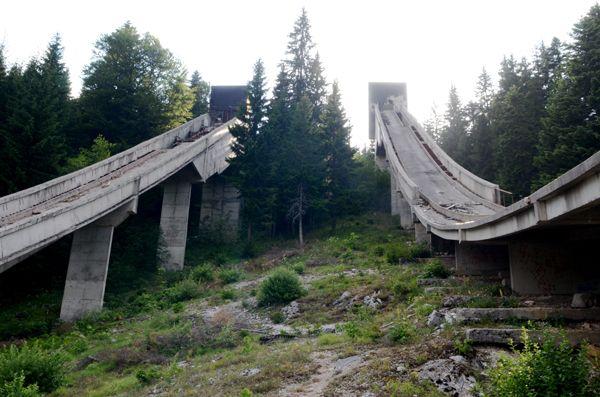 Fascinating Photos of Abandoned Olympic Sites Around the World - 1984 Olympic Ski Jump Venue — Sarajevo, Bosnia and Herzegovina