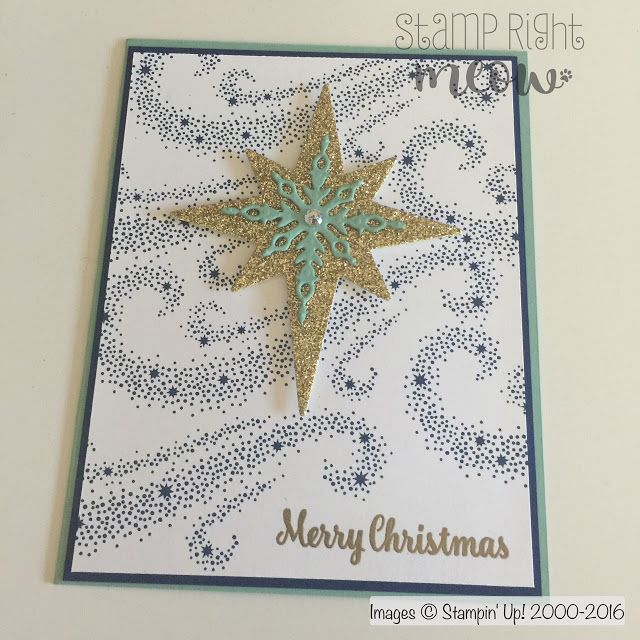 stamprightmeow: Star of Light Christmas Card With Stampin' Up!