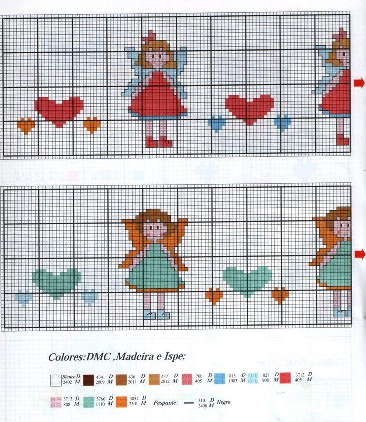 12 best bordi a punto croce per bambini images on for Bordi punto croce
