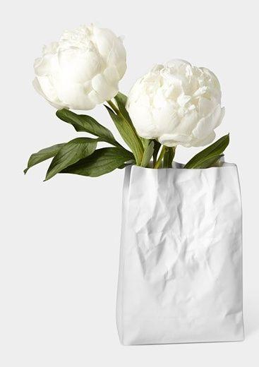 Crinkle Bag Vase by Makoto Komatsu