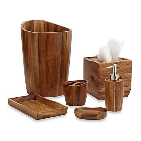 Superb Acacia Vanity Bathroom Accessories