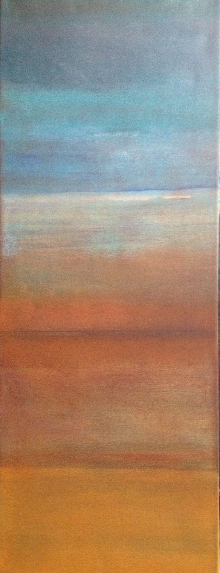 "'Earth, Sea, Sky' by Marg Rehnberg | $250 | 12""w x 32""h | Original Art | http://www.arttwo50.com/buy/art/earth-sea-sky--2"