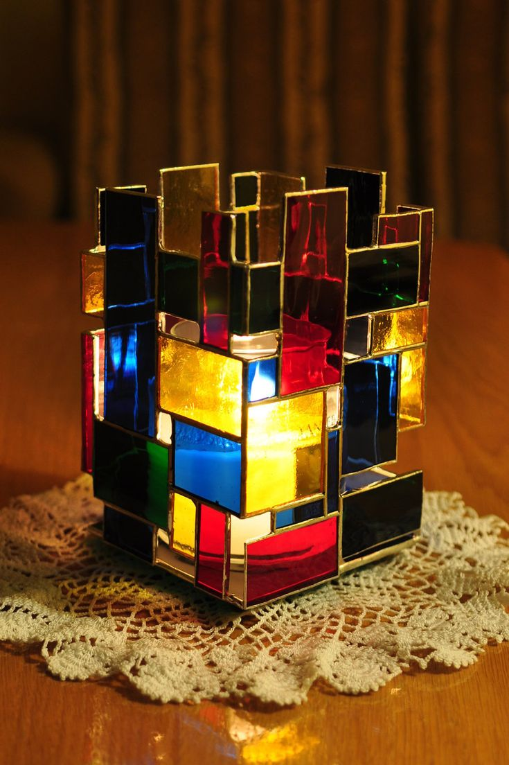 Candle lamp - cubism :) by bobidoo.deviantart.com on @deviantART