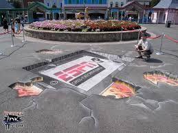 corporate chalk art sponsorship