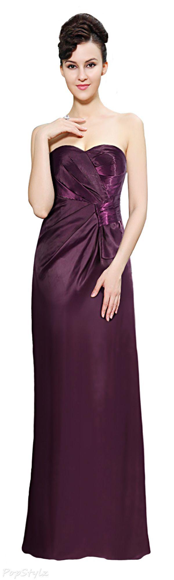 Elegant Long Purple Dress
