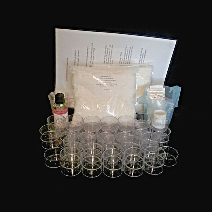 DONT MISS OUT THIS KIT IS ON SPECIAL ANS ONLY 2 LEFT  Tealight Candle Kit - Make Your Own Soy Wax Tealights  KIT INCLUDES: 1kg Soy Wax 50 x Polycarbonate Tea-Light Cups 50 x Wicks 50 x Stickums 50 x Warning Labels 5 x Color Chips 1x 60ml Measure Cup 1 x 50ml Fragrance Oil Full Instructions