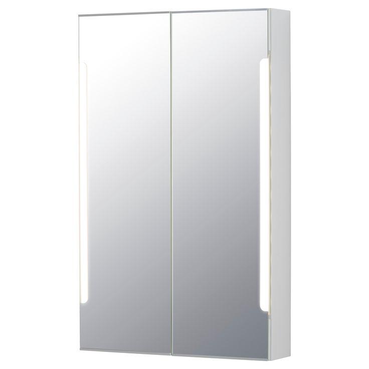 STORJORM Mirror Cabinet W/2 Doors U0026 Light   23 5/8x5 1/