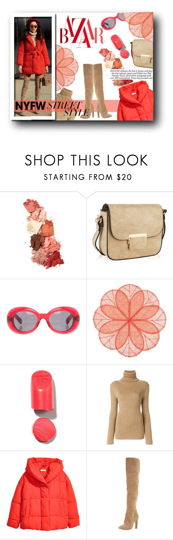 """""""NYFW : Street Style - Peach"""" by atikazahra on Polyvore featuring Lime Crime, MKF Collection, Marc Jacobs, Deborah Rhodes, Vanessa Seward, H&M, Joie, contestentry and nyfwstreetstyle"""