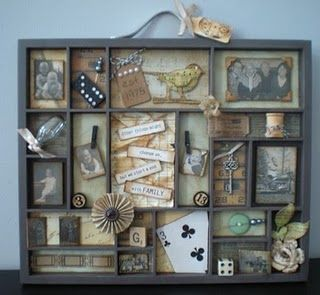 I want to create backgrounds in each section of large shadow boxes and then display Ronu0027s & 262 best Scrapbook - Shadow Boxes images on Pinterest | Printer ... Aboutintivar.Com