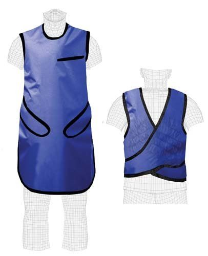 """Quick Ship Techno Aide Aprons - Flex-Guard, .5mm Lead Equivalent, Lightweight Lead  X - Extra Large (26"""" Width x 40"""" Length Fits Chest < 52"""")  Lead: Lightweight  0.5mm Pb equivalency front protection  Stretch closure with hook & loop  NOTE: All returns of this item are subject to a 50% restocking fee. For questions regarding Colortrieve's return policy, please contact us."""