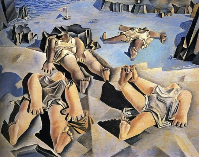 Page: Figures Lying on the Sand  Artist: Salvador Dali  Completion Date: 1926  Style: Surrealism  Genre: genre painting  Technique: oil  Material: wood  Dimensions: 20.7 x 27.3 cm  Gallery: Salvador Dali Museum, St. Petersburg, FL, USA