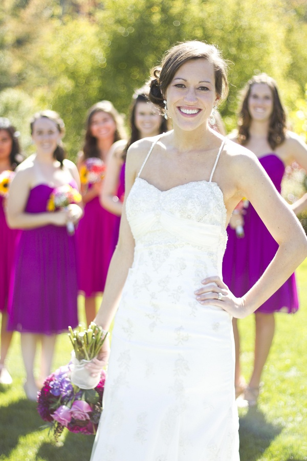 Fuchsia bridesmaid dresses  |  gambol photography