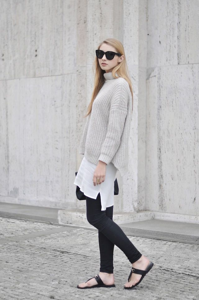 Long dress black jeans