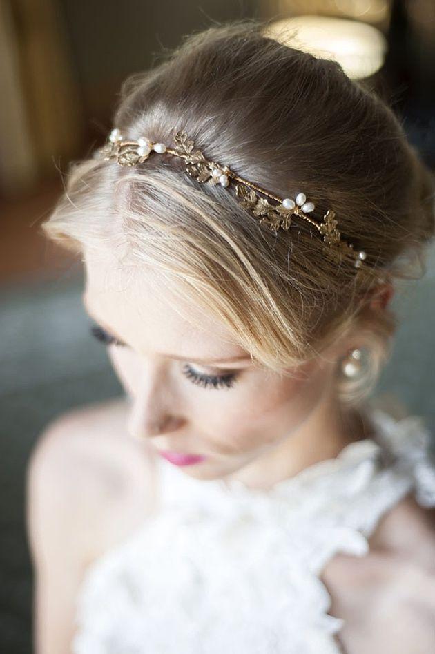 delicate bridal headband