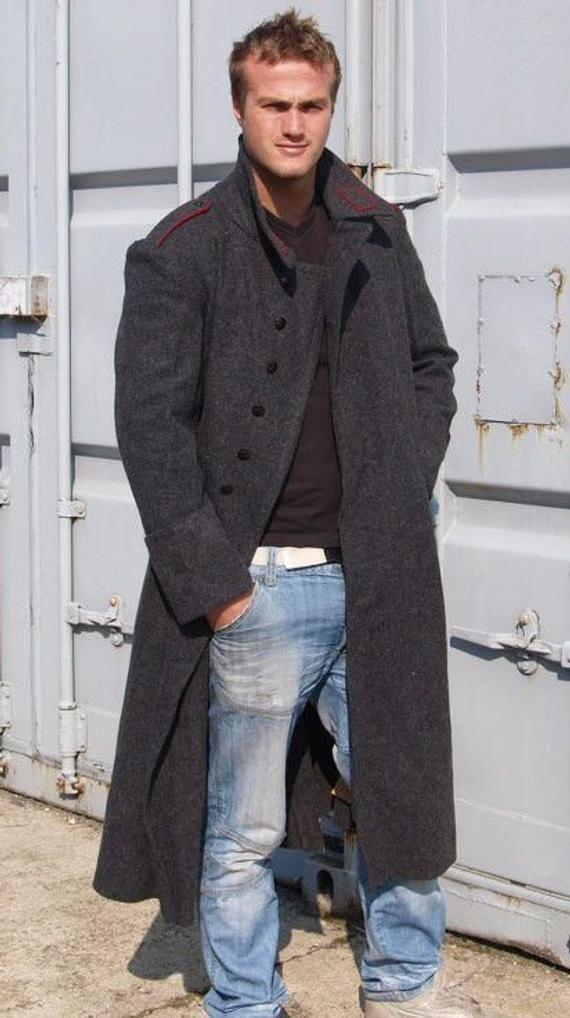89eec0c4fa Mens Bulgarian Gray Wool Greatcoat - Soviet era in 2019 | Products ...