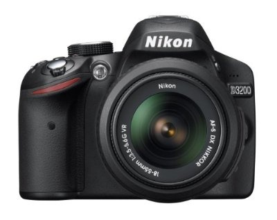 Click the pic to buy - Nikon D3200 24.2 MP CMOS Digital SLR with 18-55mm f/3.5-5.6 AF-S DX VR NIKKOR Zoom Lens (Black)