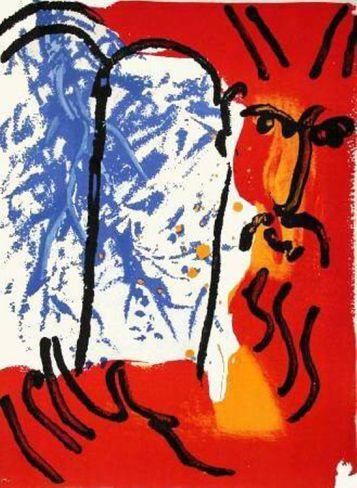 Marc Chagall peinture Mozes