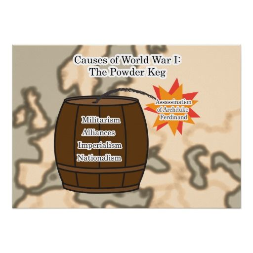Causes Of World War 1 The Powder Keg Wwi Zazzle