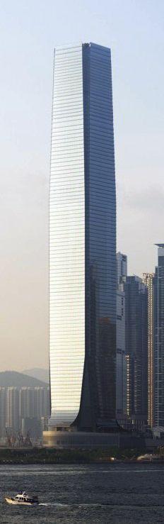 World's Highest Hotel, The Ritz Carlton Hong Kong, occupies floors 102-118 | KPF Design.