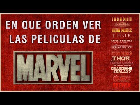 Cronologia de Peliculas del UCM (Universo Cinematografico de Marvel)